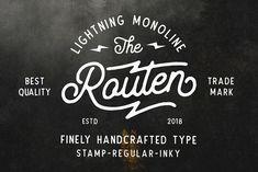 Routen Lightning Monoline by Martype Co on @creativemarket