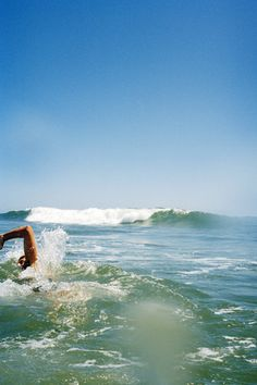 Mmmmm... Luv swimming in the ocean.  Exercise and life therapy, all in one. :)
