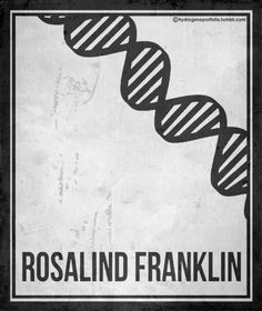 Rosalind Franklin: Minimalist Posters Celebrating Six Pioneering Women in Science | Brain Pickings