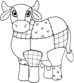 Quilted Cow colour in Applique Templates, Applique Patterns, Applique Quilts, Craft Patterns, Embroidery Applique, Cross Stitch Embroidery, Applique Designs, Quilt Patterns, Mini Quilts