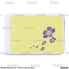 Purple Flowers Power Bank