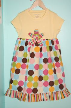 Make a simple tshirt dress with a ruffle hem... If I had a daughter - I'd be making these!