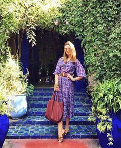 Bom dia!  No clique a minha Fhits gaúcha @claudiabartelle e o Jardim Majorelle em Marrakech destino que inspirou Yves Saint Laurent em vida. Uma quinta-feira linda a todos!  #FhitsTeam #FhitsAroundTheWorld #FhitsTips #morning