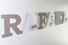 RAFAEL - Déco lettres en bois - Prénom