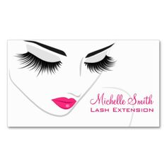 Face long lashes Lash Extension business card
