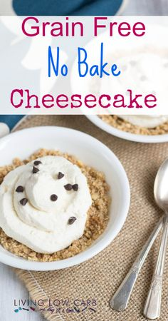 No Bake Cheesecake Shared on https://www.facebook.com/LowCarbZen | #LowCarb #Dessert