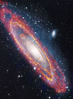 """""""Why the Cosmos, Why the Quantum, Why Existence"""" 5/25/15 Andromeda Galaxy in visible and infrared light"""