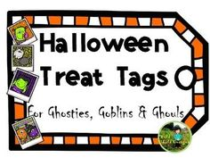 This freebie includes 24 colored, Halloween-themed tags for goody bags. Enjoy and Happy Halloween from Wild Child Designs!
