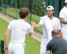 Rafael Nadal - Entrainement avec Andy Murray - Wimbledon juin 2015