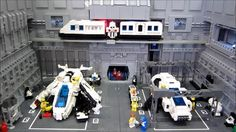 """The ground crew of Futuron Maintenance Hangar 16/17 ensure that the ships of Valor Squadron are always ready for action.""  Built for The Great Western Lego Show at STEAM 2013  A better quality version of this video is available on Youtube  (Music is Acker Bilk - Stranger on the Shore)"