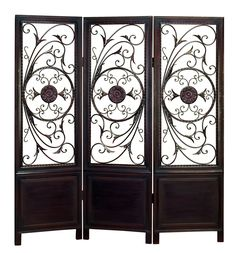 Wood Metal 3 Panel Screen Ultimate In Its Category