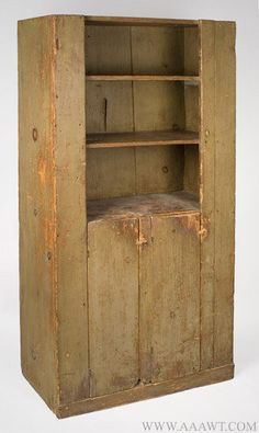 Country Cupboard, Open Top, Original Paint History, Feature1328