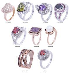 Hot New Fashion Jewelry  Sterling Silver  Zircon Women Wedding Rings Size O, P,Q