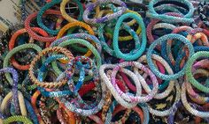 Lilly and Laura bracelets - cute and for a great cause :)