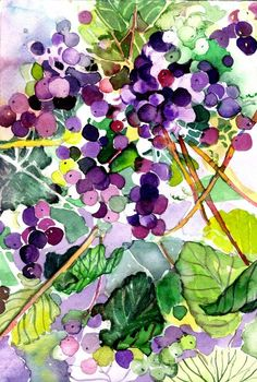grape watercolor