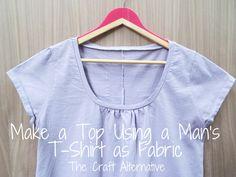 Make a Top Using a Man's T-Shirt as Fabric DIY