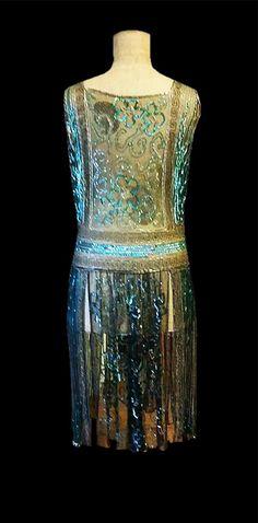 Breathtaking 1920s Museum Quality French Sparkling Net Eve Flapper Dance. www.vintageclothin.com
