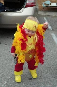 funny little kid halloween costume as Hulk Hogan