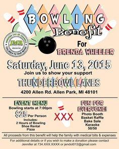 Bowling Benefit Flyer Fundraiser Flyer Strike by JMRCreativeDesign - PintoPin Bowling, Benefit, Custom Flyers, Fundraising Events, Fundraiser Event, Church Fundraisers, Fundraising Activities, Event Flyers, Tattoo Ideas