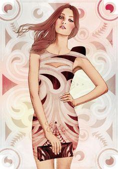 Ilustraciones de moda por Elodie   Undermatic #fashion #illustration