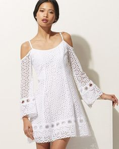 Prepare for those warm summer outings with Nice Dresses, Girls Dresses, Summer Dresses, Summer Outfits, White Boho Dress, White Lace, Kaftan Designs, Lace Outfit, Sweet Dress