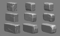 Brick models with damage and wear zbrush rocks - 2019 digital painting tuto Digital Art Beginner, Hand Painted Textures, 3d Modelle, Rock Painting Ideas Easy, Digital Painting Tutorials, Environment Concept Art, Environmental Art, Stone Carving, Texture Painting