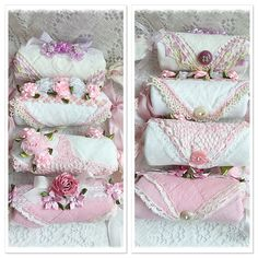 Shabby and so chic sweet vintage hankie lavender sachets I design!  See them at Rosechicfriends on etsy!