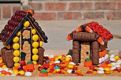 Spooky Haunted House Craft with Mars Candy