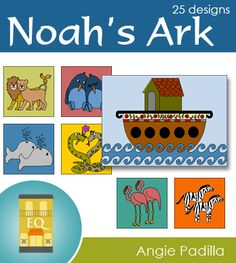 Noah's Ark - 25 block collection by Angie Padilla