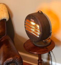 Upcycled space heater lamp
