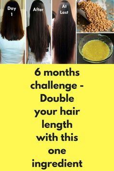 6 months challenge - Double your hair length with this one ingredient Many users ask same question everyday, how to increase hair growth. First of all let me tell you it is not some kind of magic. To boost your hair growth 2 things are must 1. No hair fall (zero hair fall in just impossible, but yes you can reduce it to 9-10) 2. Healthy scalp …