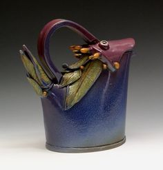 Sandy Terry Ceramic Artist and Painter : Blue Bird Tea Pot