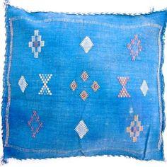 Moroccan Cactus Silk Pillow Cover *Blue