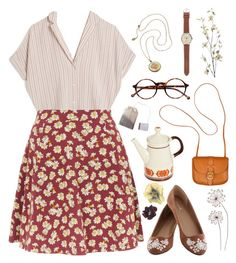 """""""Untitled #88"""" by chickensoup456 on Polyvore featuring MASSCOB, J.Crew, Retrò, Clare V. and Pier 1 Imports"""