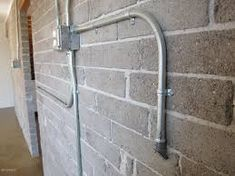 Image result for exposed electrical conduit