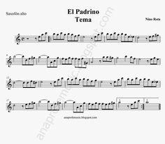 "Partitura banda sonora ""El Padrino"" - Godfather sheet music - The Godfather, Saxophone, Piano, Brad Pitt, Music Stuff, Flute, Sheet Music, Jazz, Saints"