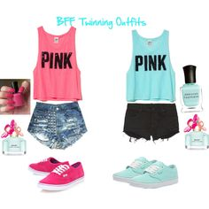 BFF Twinning Outfits to be good friends Best Friend Matching Shirts, Best Friend T Shirts, Best Friend Outfits, Best Friend Clothes, Best Friend Stuff, Bff Clothes, Clothes Shops, Clothes Sale, Twin Outfits