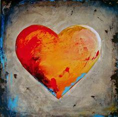 Heart Art, Love Heart, Hearts, Painting, Heart Of Love, Painting Art, Paintings, Painted Canvas, Drawings