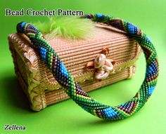 Bead Crochet Necklace Pattern Travel to India by LGreenBeads, $6.00