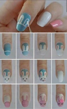 sweet easter nails tutorial *-*