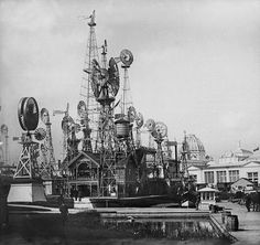 The Windmills display at the World's Fair of 1893 in Chicago Chicago City, Chicago Area, Chicago Illinois, Coney Island Amusement Park, Amusement Parks, Us History, American History, World's Columbian Exposition, White City