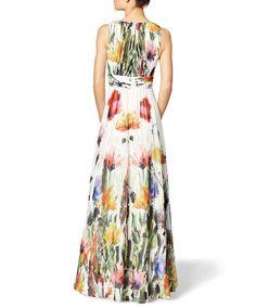 Gorgeous V-Neck Sleeveless Tropical Print Women's Dress