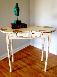 Shabby Chic Desk and Chair by jmrestorationco on Etsy, $150.00
