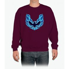 Fire Bird Blue Crewneck Sweatshirt