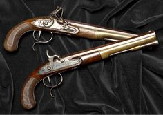The guns A. Hamilton and A. Burr used to duel, owned by JP Morgan Chase