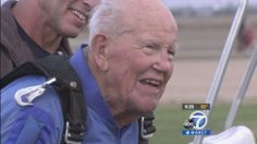 100-year-old man goes skydiving on birthday
