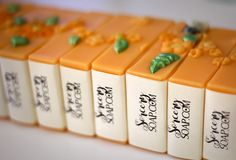 """Getting new soaps ready for another Magic Soap Box, to offer more choice. Love putting these back together... Like a puzzle. Apelsin Blossom - Swedish for """"orange"""". Scented in Meadow Flowers."""