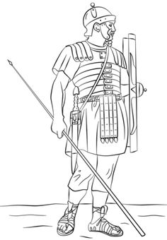 ancient roman coloring pages | ancient rome colouring pages | Ancient Roman Soldiers ...