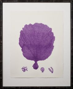 Purple Coral Printed on Archival Paper,  floated on oyster linen and finished in an Espresso Bamboo Frame