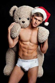 Gorgeous Xmas Guy with Teddy